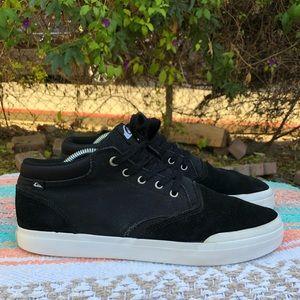Quiksilver Mens Verant Mid-Top Shoess - Black/Wht